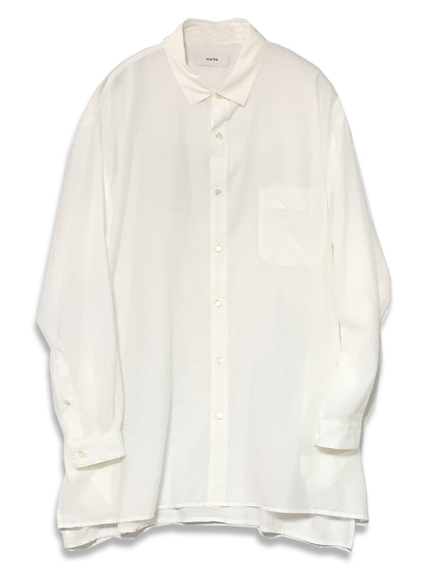 マーカ  REGULAR COLLAR SHIRTS <br> (WHITE) M17A-06SH02<br>