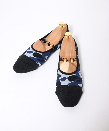 wjk / 9103 cn51f-foot cover sox ソックス (59)black × navy